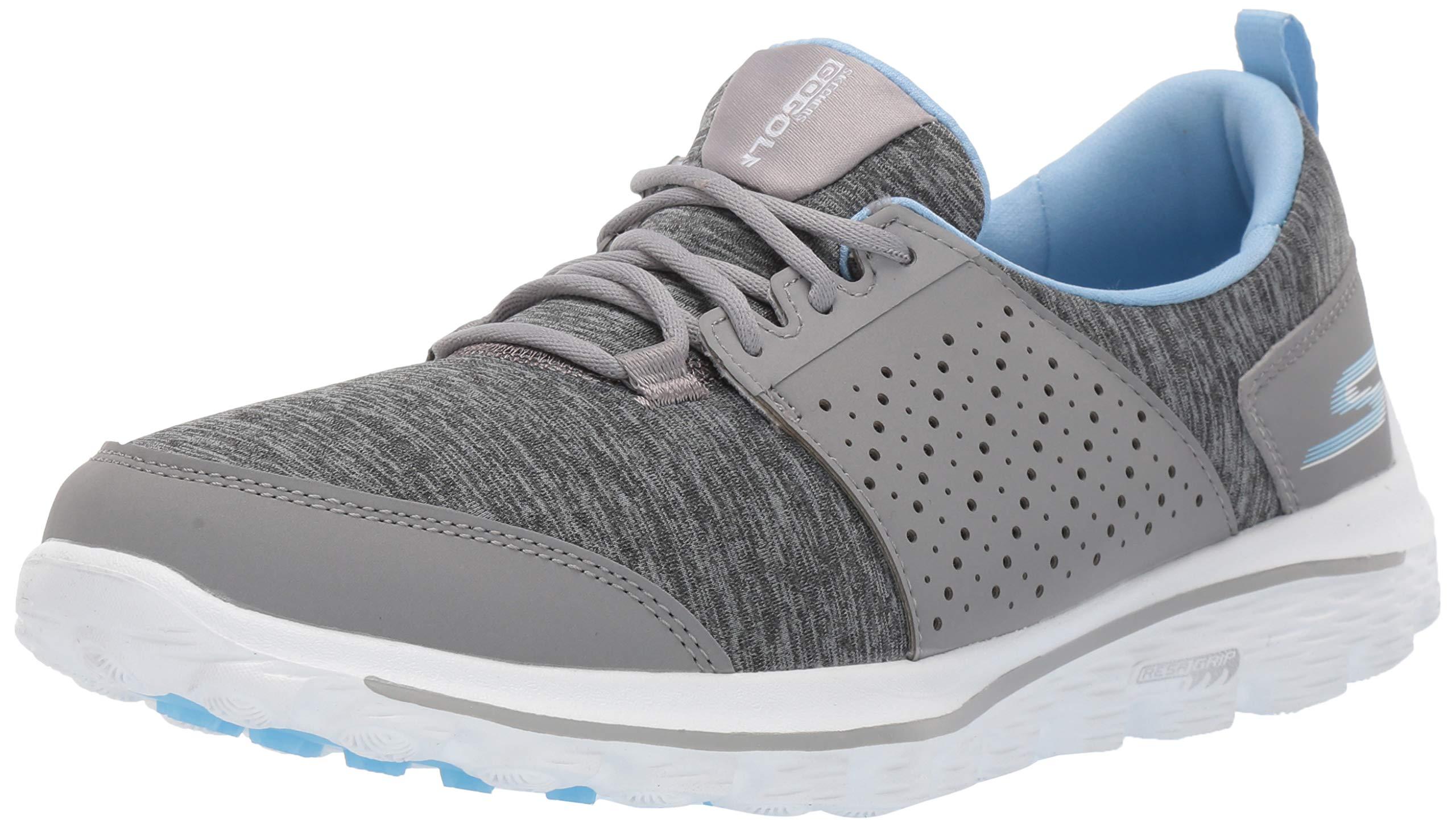 Skechers Women's Go Walk 2 Sugar Relaxed Fit Golf Shoe, Gray/Blue, 8.5 M US by Skechers