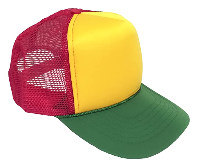 9c1af491b Amazon.com: Rasta Trucker Cap: Clothing