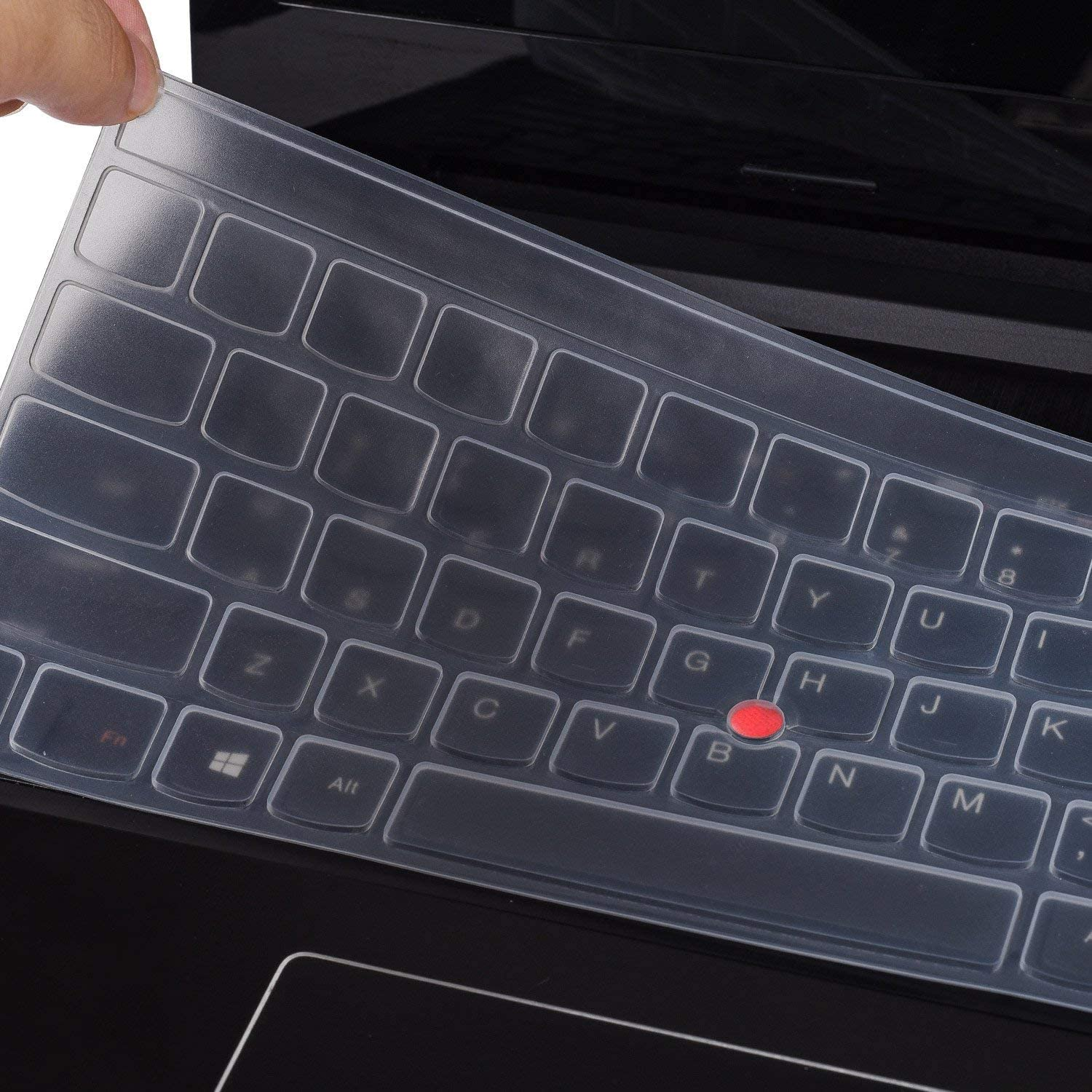 """Keyboard Cover for Lenovo Thinkpad P70 P71 17.3"""", 15.6"""" Thinkpad P50 P50s, 15.6"""" Thinkpad E531 E540 E550 E555 E560 E565 E570 E575 W540 W541 W550 W550s L560 L570 T550 T560 Laptop, Clear"""