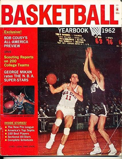 1962 Basketball Yearbook Wilt Chamberlain Jerry Lucas Nba8 At