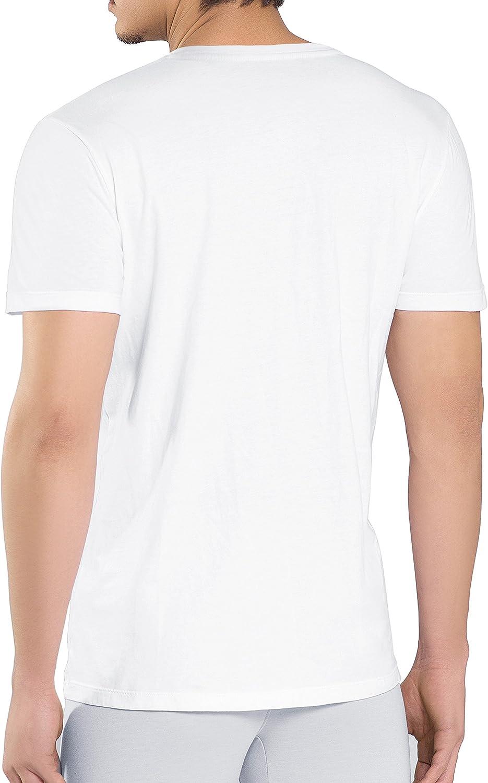 Camisetas Hombre Originales de 100/% Algod/ón S/úper Suave Camiseta de Negocio Genuwin 3 Pack Camisetas Hombre Manga Corta con Cuello En V