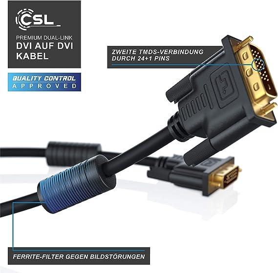 Csl 1m High Speed Dvi Zu Dvi Kabel Dual Link 24 1 Computer Zubehör