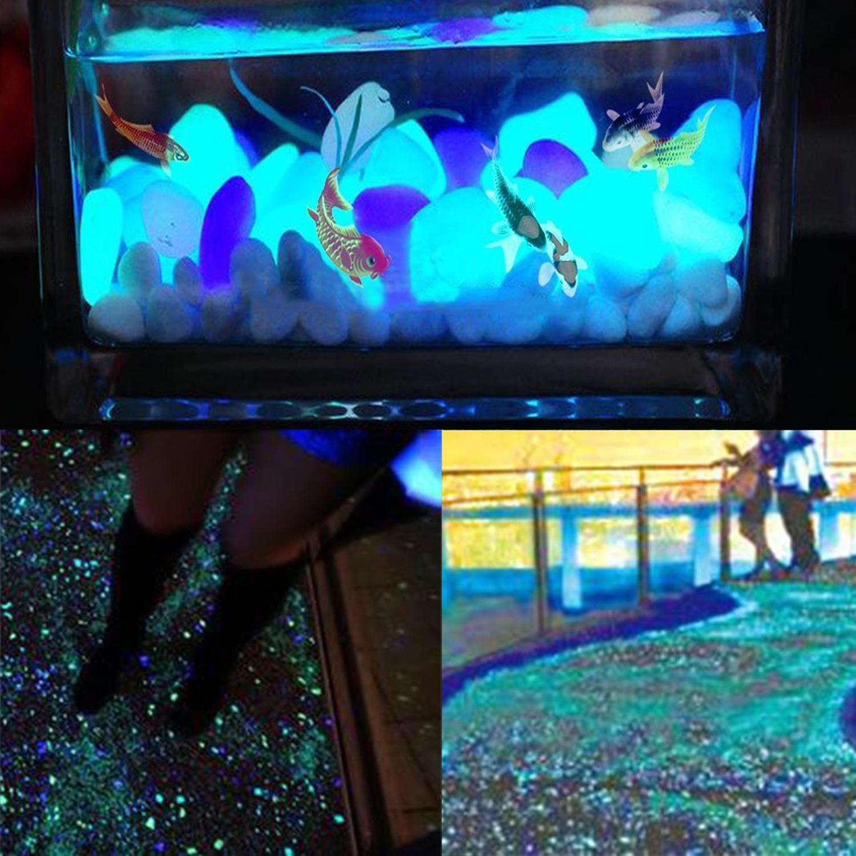 niceEshop(TM) 200 Pcs Piedras Decorativas Guijarros Brilla en la Oscuridad Pebbles Adoquines Luminoso para Decoración de Acuario Fish Tank Grava Entrada ...