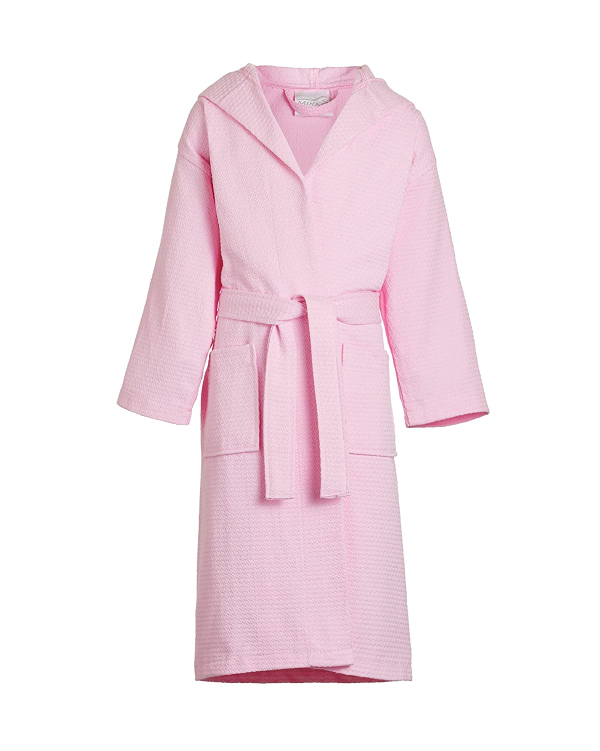 1d2118745c Amazon.com  TowelBathrobe Kids Waffle Diamond Weave Hooded Bathrobe  Cheap  Pink Bathrobes  Clothing