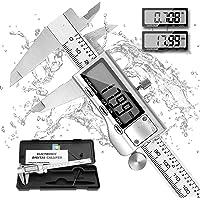 Digital Caliper Micrometer, REEXBON Caliper Measuring Tool, 6 Inch/150 mm Stainless Steel Precise Vernier Calipers with…
