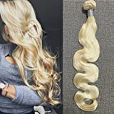 "Full Hair Full Head 18"" 100% Remy (Remi) Human Hair Weft Weave Extensions Body Wave Blonde Hair (Color 613) 100g Each Bundle"