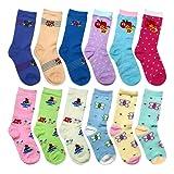 Amazon Price History for:Falari 12-Pack Girl Toddler Kids Cotton Crew Socks