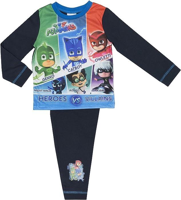 Amazon.com: Cartoon Character Products Boys PJ Masks Pyjamas ...