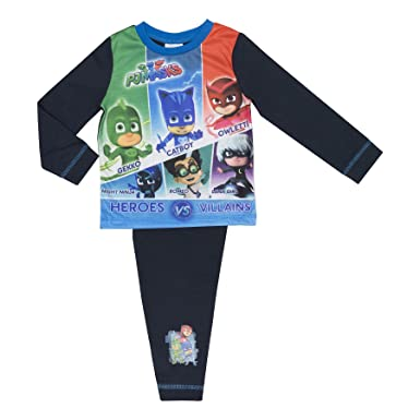 Cartoon Character Products Boys PJ Masks Pyjamas 18 Months - 5 ye - Heroes v Villains