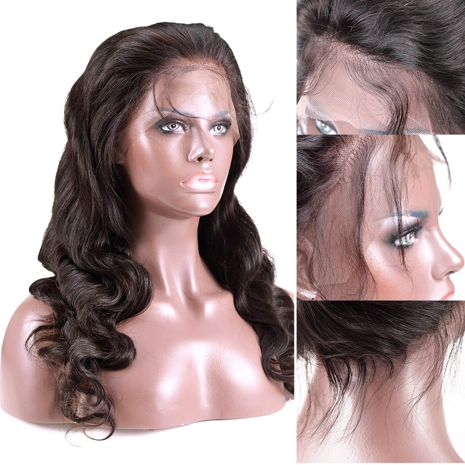 Amazoncom 360 Lace Frontal Wigs Pre Plucked With Baby Hair Full