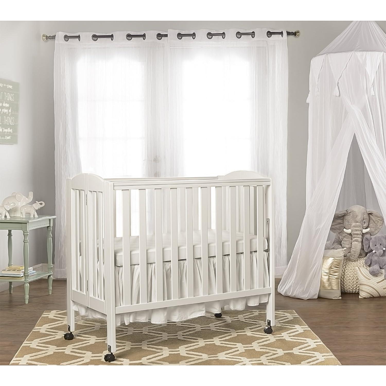 Amazon.com : Dream On Me 3 In 1 Portable Folding Stationary Side Crib,  White : Foldable Mini Cribs : Baby