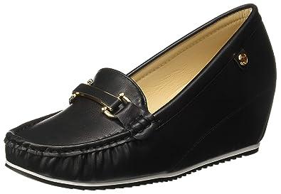 5aa4e46a5ed121 Carlton London Women s Black Loafers-5 UK India (38 EU) (CLL ...