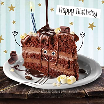 Birthday Card Triple Chocolate Cake