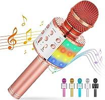 Cvozo Karaoke Mikrofon, Drahtloses Bluetooth Mikrofon für Kinder, Lustige Geschenke Spielzeug für Teenager Mädchen...