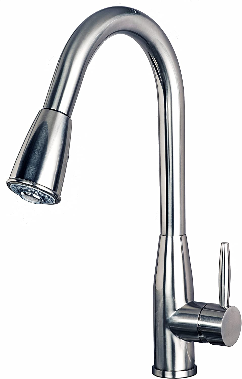 """Builders Shoppe 1150SS Single Handle Pull-Down Kitchen Sink Faucet, 16"""", Stainless Steel Finish"""