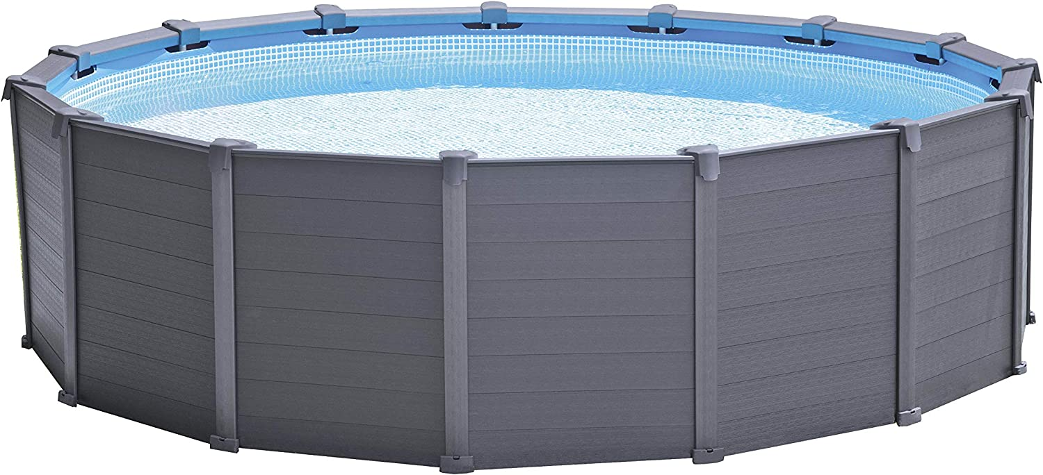 Intex 15Ft8In X 49In Graphite Gray Panel Pool Set: Amazon.es: Jardín