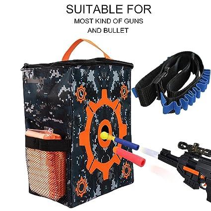 Nerf Elite Blaster Toy Gun Accessories Storage Bag Target Pouch For Nerf N-strike Elite Series Home & Garden