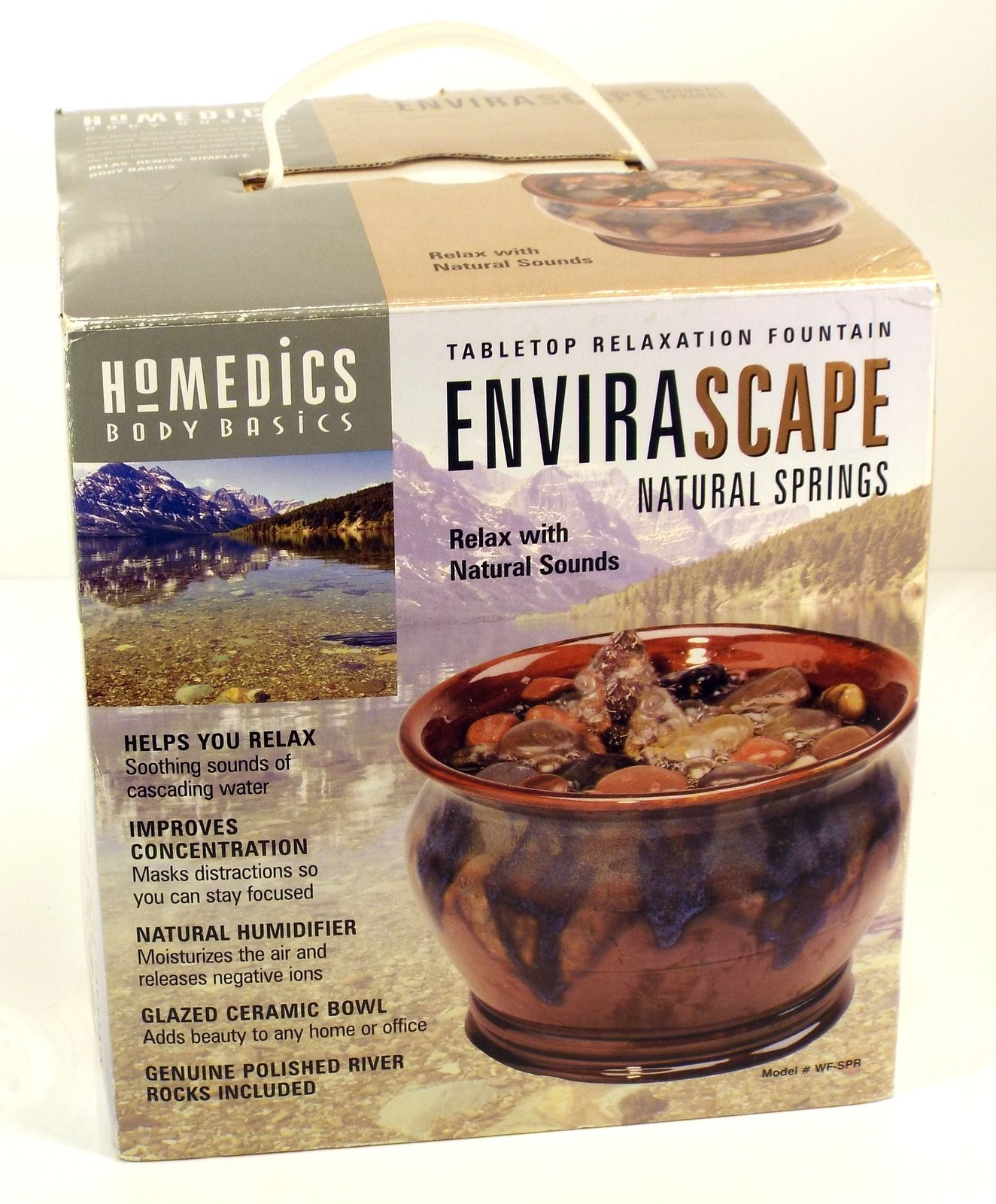 Homedics Envirascape Natural Springs Tabletop Relaxation Fountain