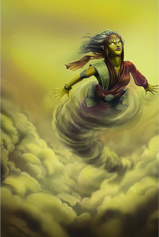 Amazon.com: Djinns of the High Desert - Fantasy Wall Decor Art Print Poster  24x36 [Genie Clan (Yellow)]: Posters & Prints