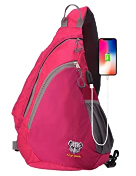 Polar Panda Sling Bag Crossbody One Strap Backpack for Women   Men Travel  Shoulder Chest Daypack 406aa2ba1b993