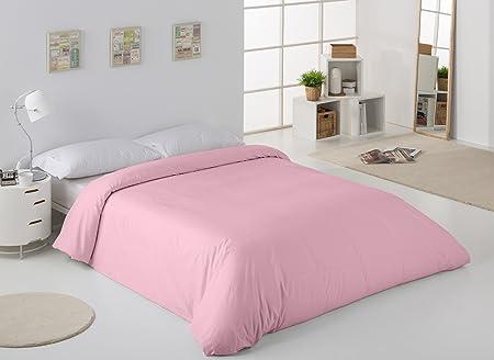 ESTELA - Funda nórdica Combi Color Rosa - Cama de 150/160 cm. - 50 ...