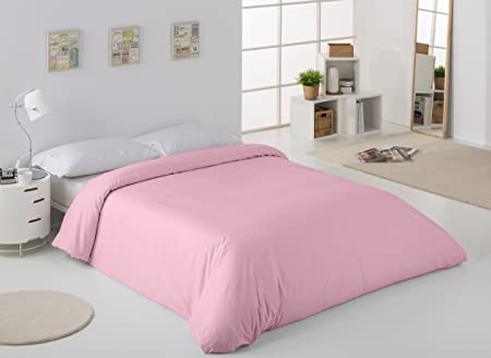 ESTELA - Funda nórdica Combi Color Rosa - Cama de 150/160 cm. - 50% Algodón / 50% Poliéster - 144 Hilos: Amazon.es: Hogar
