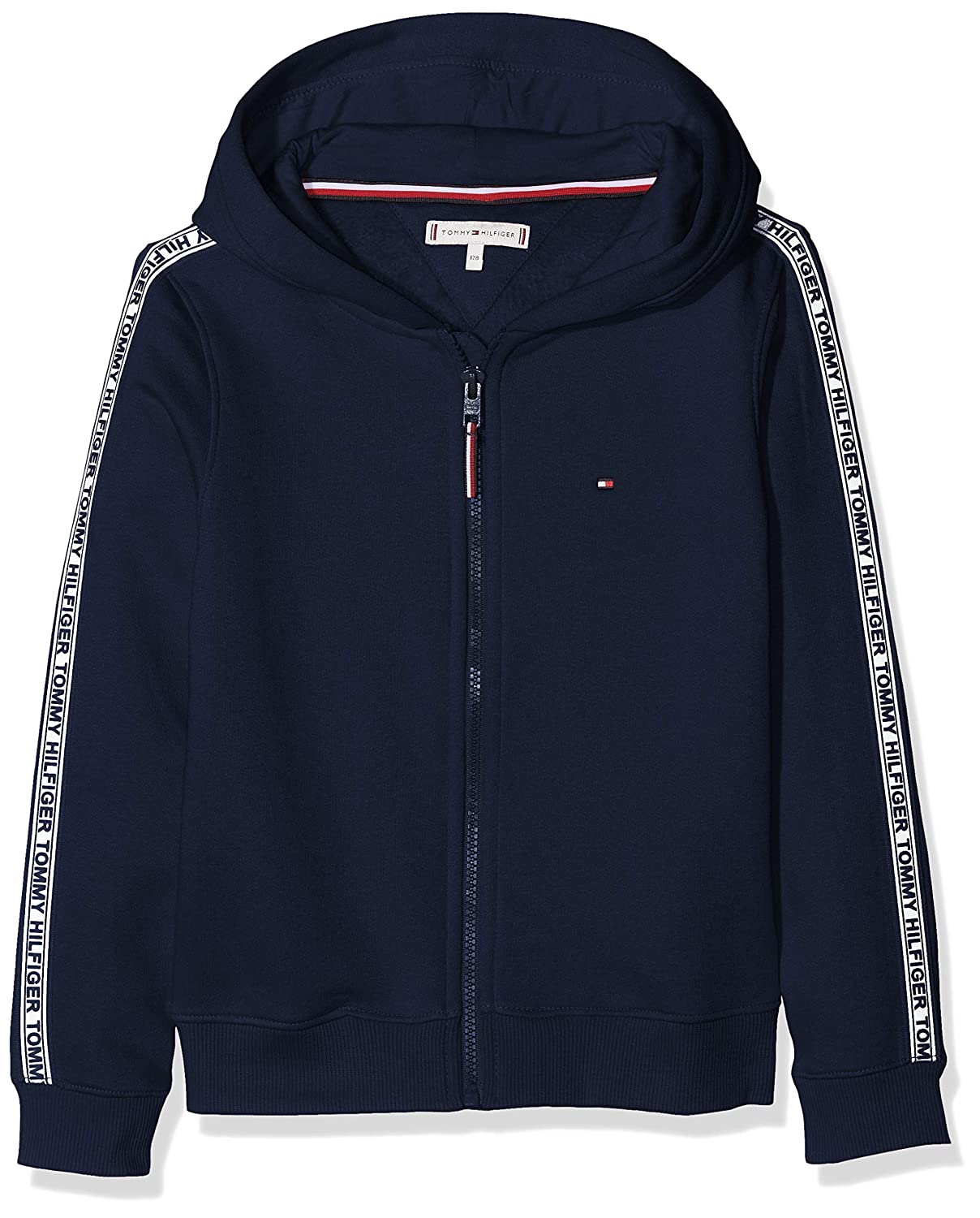 Tommy Hilfiger Essential Tommy Tape Zip Through Cardigan Bambina
