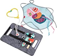 Fisher-Price Patient and Doctor Kit - 9-Piece Medical Pretend Play Gift Set Featuring Real Wood for Preschoolers Ages 3 Year