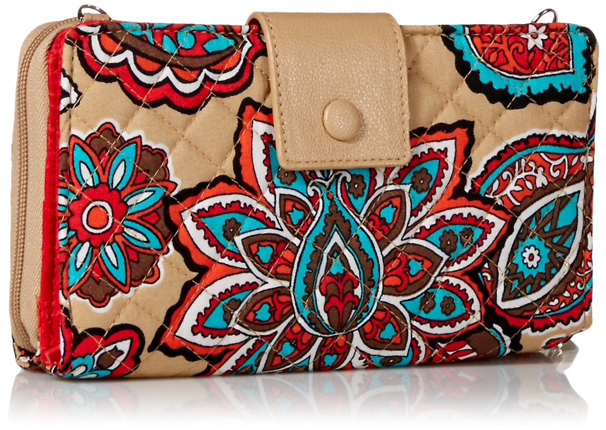 Vera Bradley Iconic Deluxe All Together Crossbody, Signature Cotton, Desert Floral by Vera Bradley (Image #2)