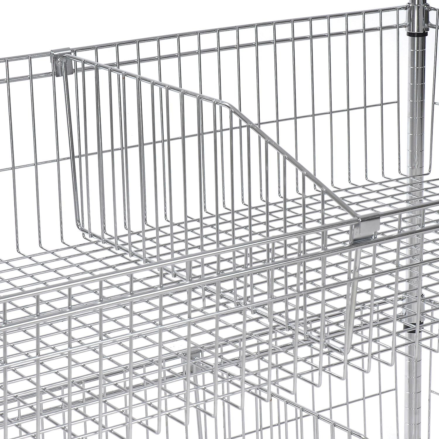 Optional Dividers for Wire Baskets Size: 1'' H x 18'' W x 11'' D