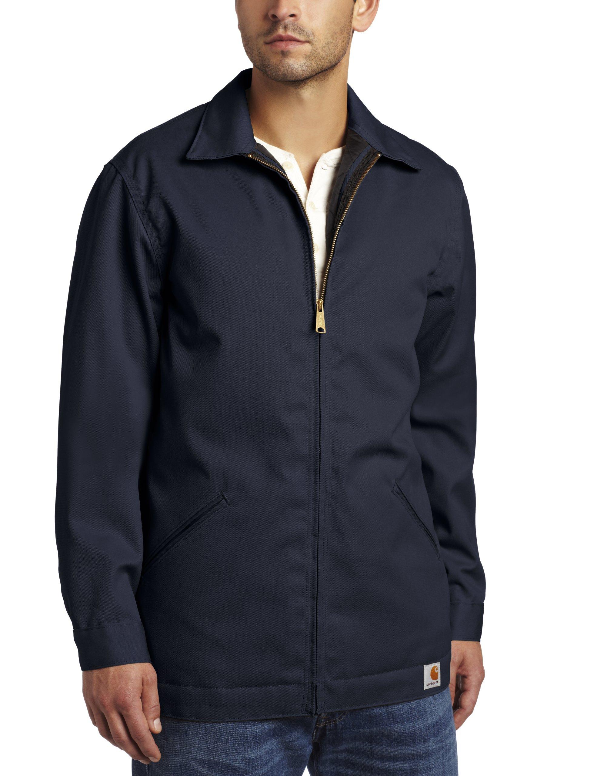 Carhartt Men's Big & Tall Twill Work Jacket,Navy,XXX-Large Tall by Carhartt