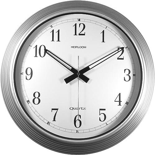 Timekeeper Products LLC 16-Inch Round Galvanized Metal Wall Clock