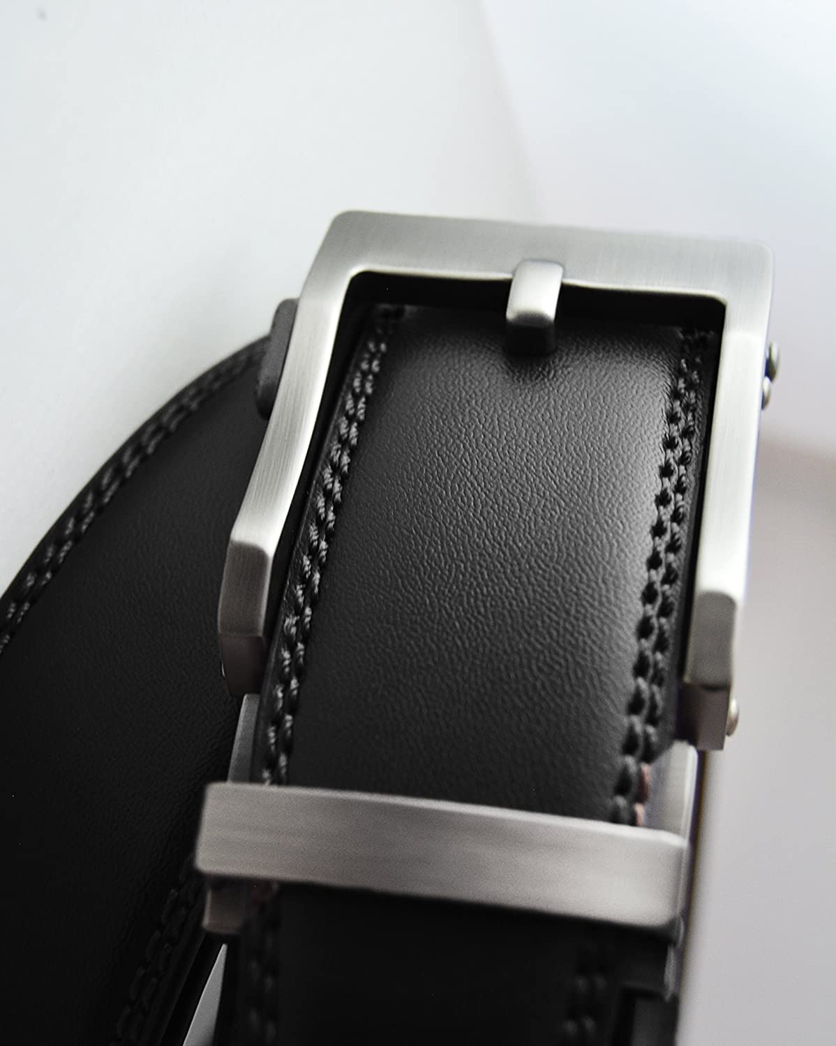Mens Holeless Leather Ratchet Click Belt Various Styles and Colors Trim to Perfect Fit
