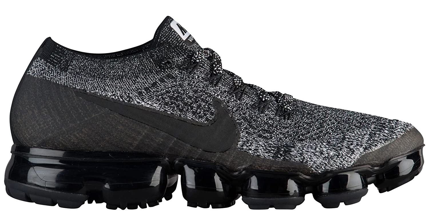 sports shoes 94943 83f77 Nike Women's Air Vapormax Flyknit Running Shoe Black/Black-White-Racer Blue  11.0