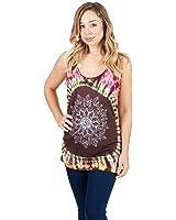 Women's New Tie Dye Boho Hippie Om Tank top