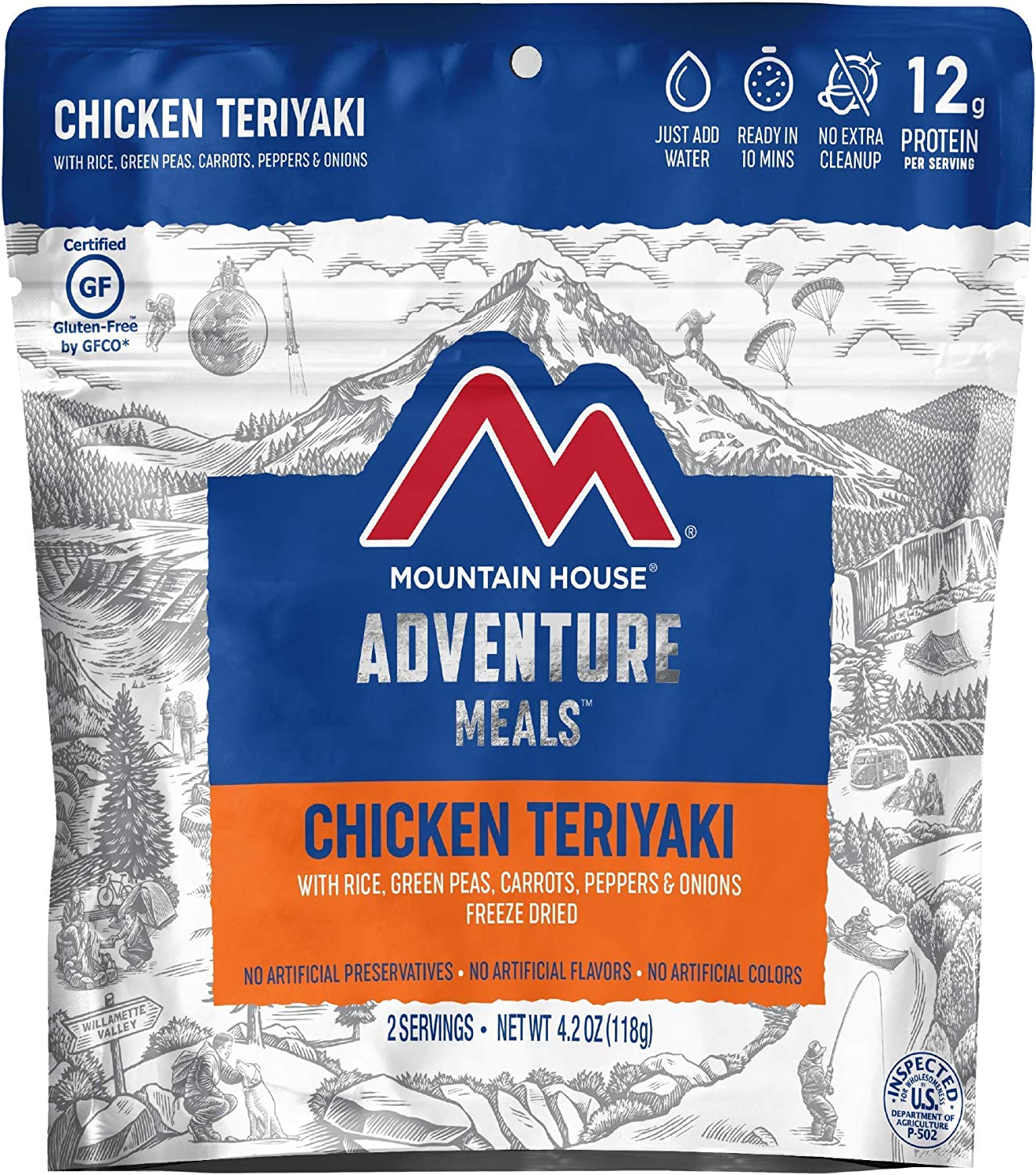 Chicken Teriyaki with Rice | Freeze Dried Backpacking & Camping Food | Gluten-Free (New Version)