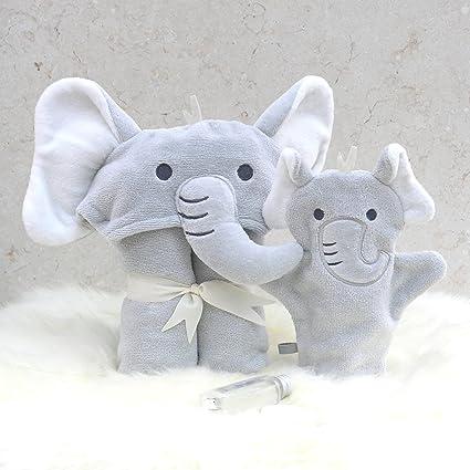 Juego de toallas de baño con diseño de elefante