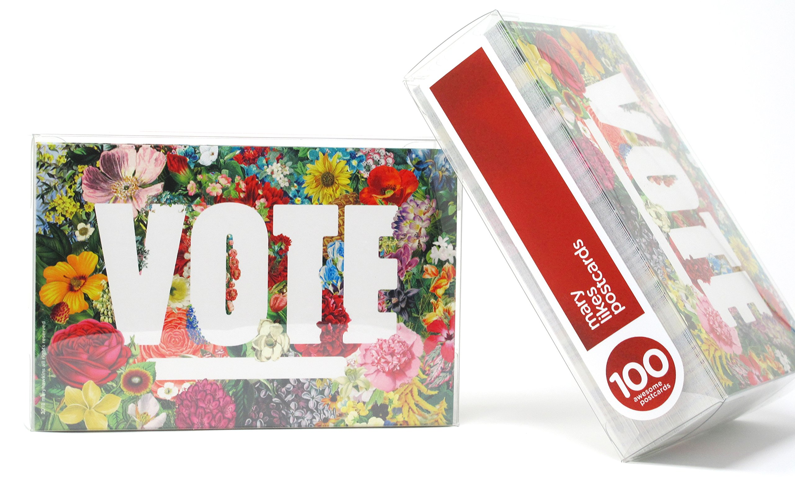 State Flowers''Vote'' Postcards. Perfect for Writing to Your Representatives or Get Out the Vote Campaigns like Postcards to Voters (100) by Mary Likes Postcards