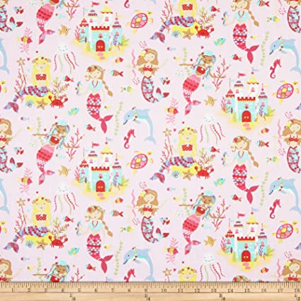1ff5e81fe23 Image Unavailable. Image not available for. Color: STOF France Mermaid  Fabric ...
