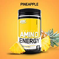 OPTIMUM NUTRITION ESSENTIAL AMINO ENERGY, Pineapple, Preworkout and Essential Amino Acids with Green Tea and Green Coffee Extract, 30 Servings