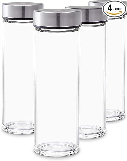 Amazon.com: Juice Bottles - Juego de 4 botellas de vidrio de ...
