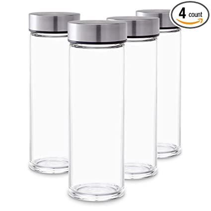 Amazon.com: Botellas de zumo – Pack de 4 botellas de vidrio ...