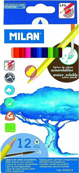 Milan 742312 - Pack de 12 lápices: Amazon.es: Oficina y papelería