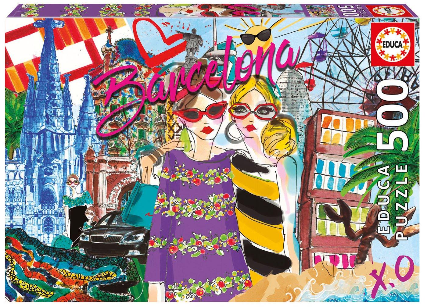 Educa 17651 World - Take me Take to Puzzle Barcelona - 500 pieces - Chic World Puzzle B0793HP2S2, クラウドモーダ:acfb6511 --- ero-shop-kupidon.ru