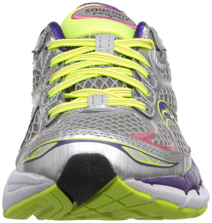 Saucony Women's Ride 7 Running Shoe B00GWKQFCE 7.5 W US|Silver/Purple/Citron