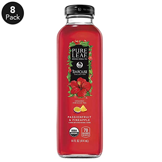 Pure Leaf THC Herbals Iced Tea, Hibiscus Passion Fruit/Pineapple, 8 Count