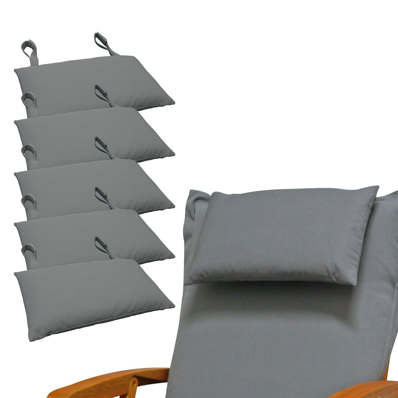 Indoba 6 x Premium-Grau Kopfkissen-Auflage