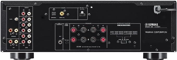 Yamaha A-S501 - Amplificador integrado estéreo de 120 W por canal, color plateado: Amazon.es: Electrónica