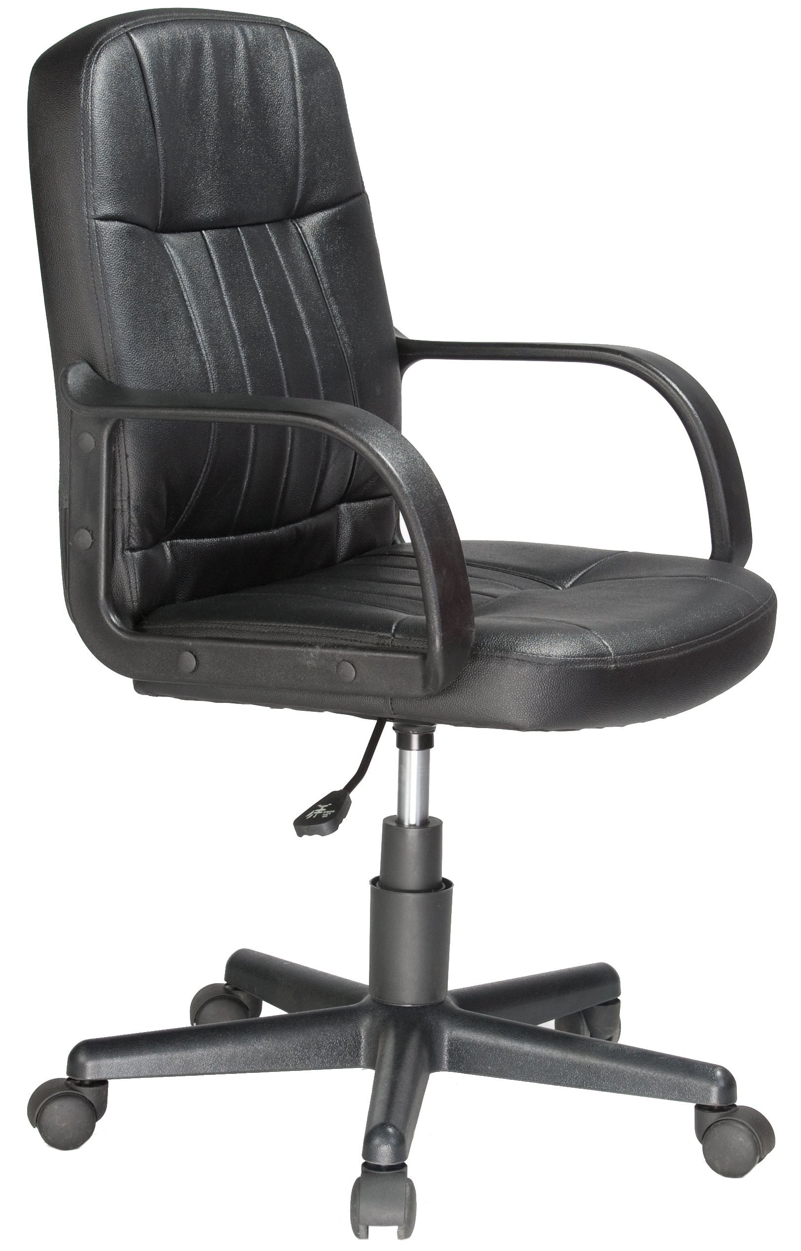 Comfort Products Mid-Back Leather Office Chair, Black by Comfort Products