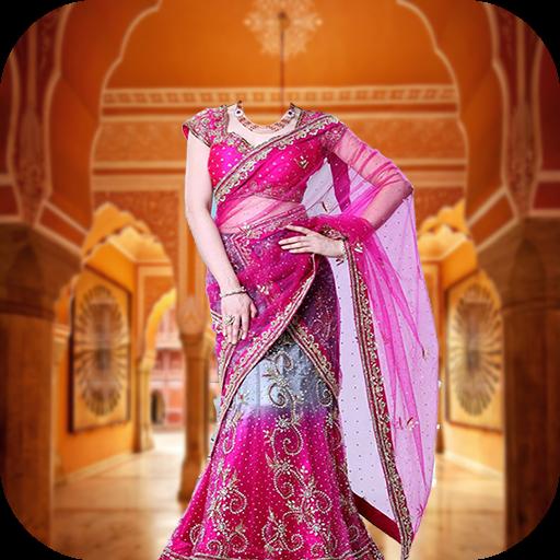 women-saree-photo-montage